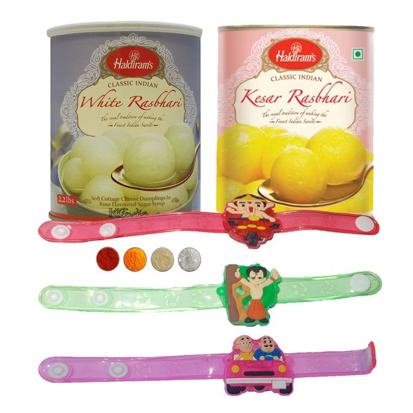 Fancy Kids Rakhi with Rasbhari