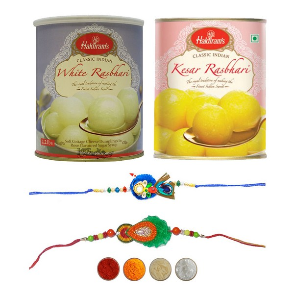 Gorgeous Handcrafted Rakhi with Rasbhari
