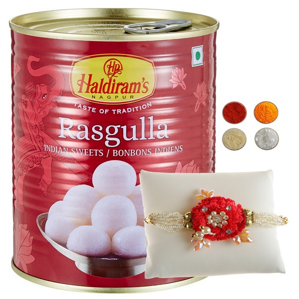 Handcrafted Designer Rakhi with Rasgulla