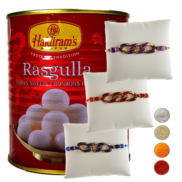 Rakhis with Rasgulla