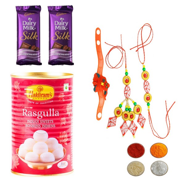 Stunning Rakhi Set with Rasgulla