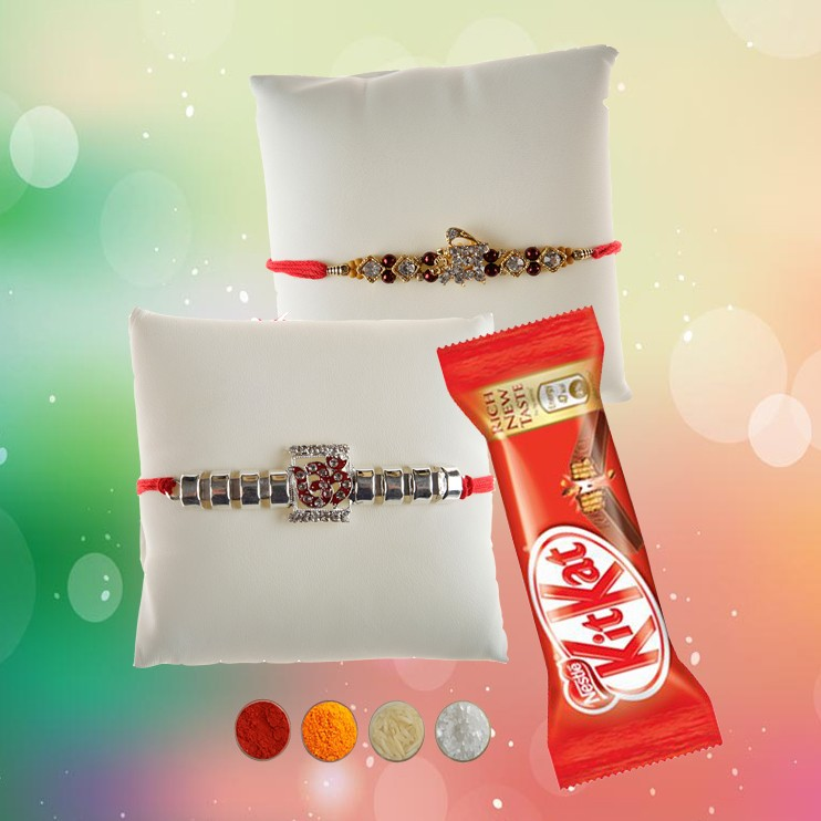 Premium Stone Rakhi with Chocolate