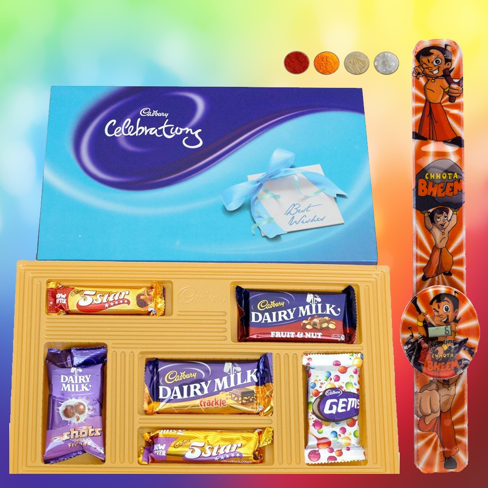 Chhota Bheem Kids Rakhi with Chocolates