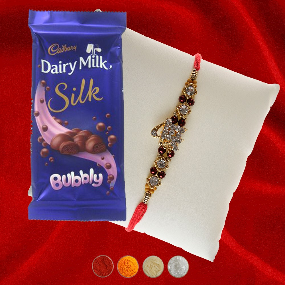 Shri Rakhi with Dairy Milk Silk Bubbly