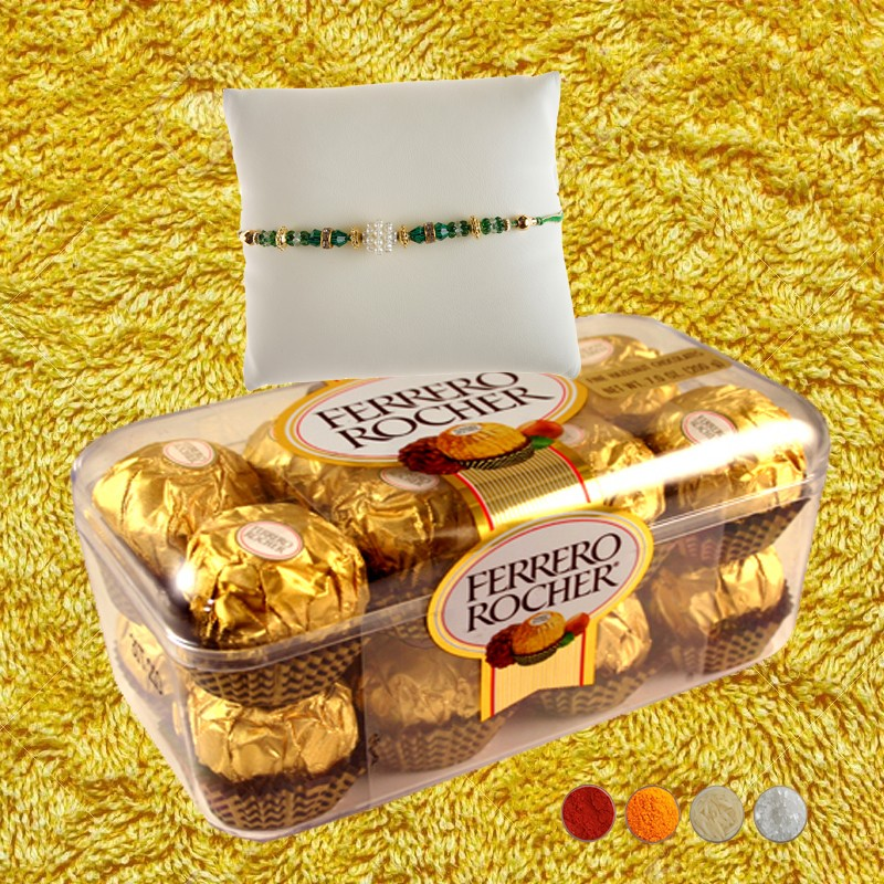 Fancy Rakhi with Rocher Delights