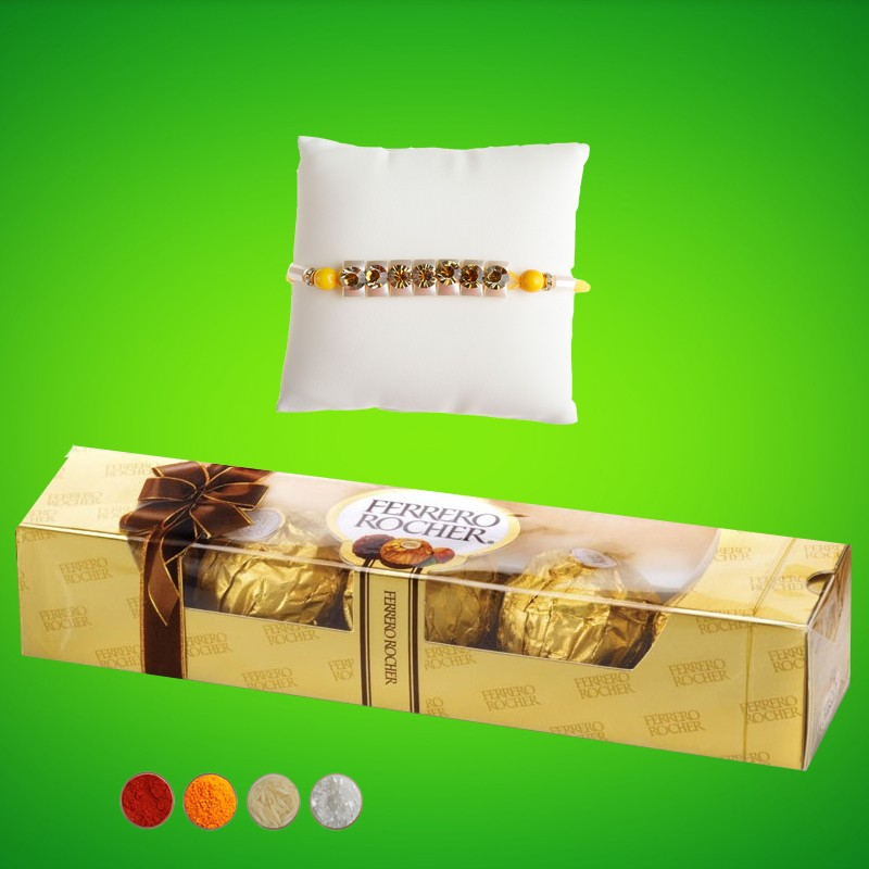 Rakhi Surprise with Rocher Chocolates