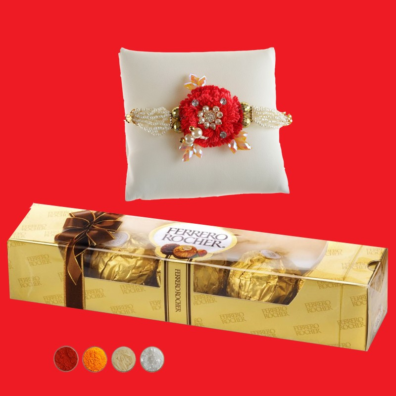 Elegant Rakhi with Rocher Chocolate