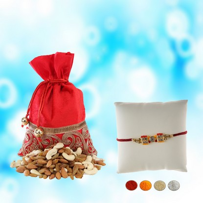 Traditional Rakhi with Mixed Dryfruits