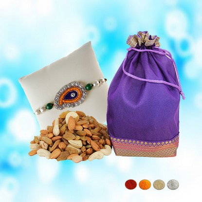 Designer Rakhi with 200g Mixed Dryfruits