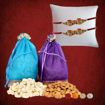 2 Rakhis with 300g Cashews and almonds