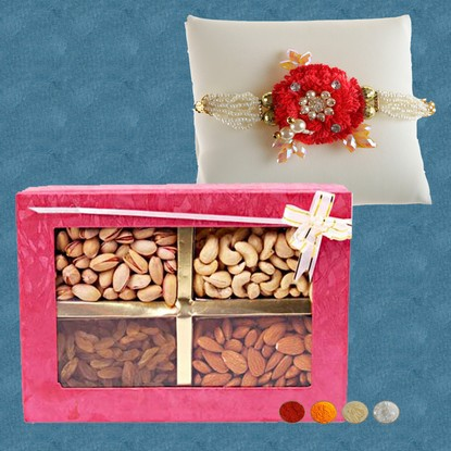300g Mixed Dryfruits with Handcrafted Rakhi