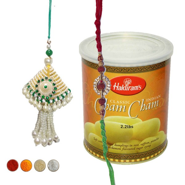 Lumba Rakhi Set with Haldiram��� �� �s Sweets
