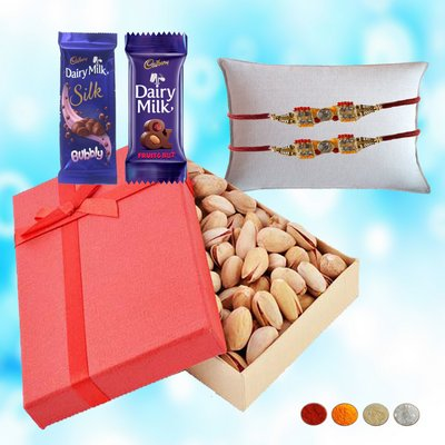 Traditional Rakhi Dryfruits Hamper