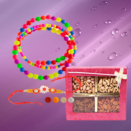 Beads Lumba and Rakhi with Dryfruits