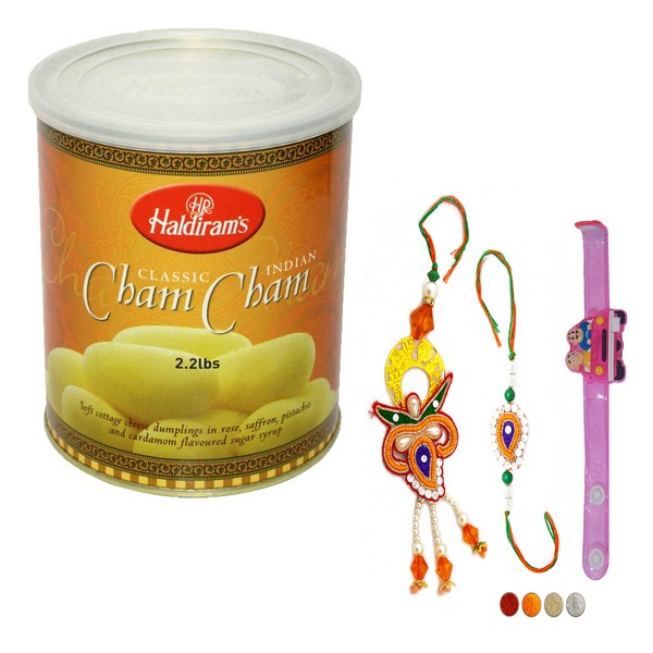 Family Rakhi Set with Cham Cham