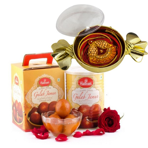 Sweet Delights with Premium Rakhi