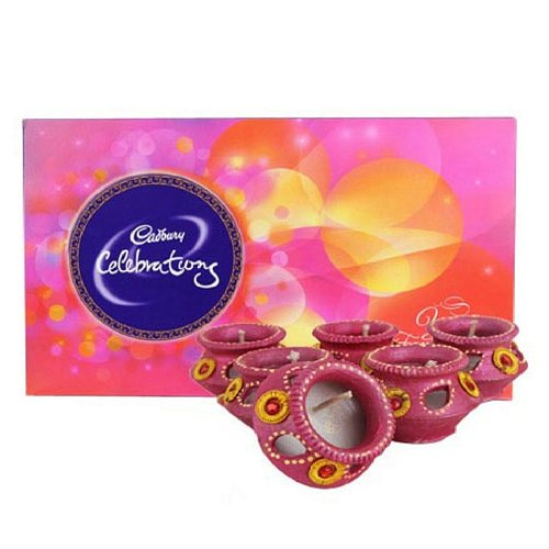 Cadbury Celebrations & Matka Diya - Diwali Gifts
