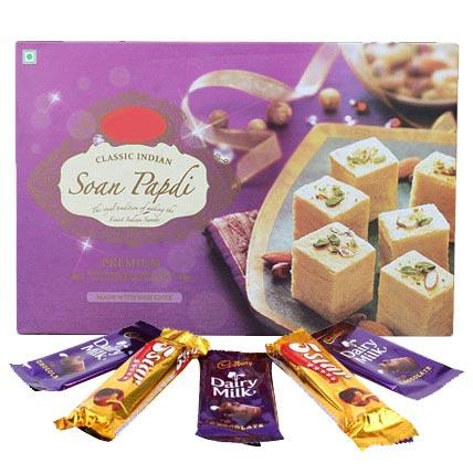 Soan Papdi & Chocolates - Diwali Gifts