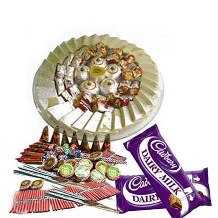 Crackers With Chocolates - Diwali Gifts