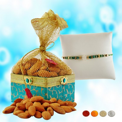 Beads Rakhi with 200g Almonds