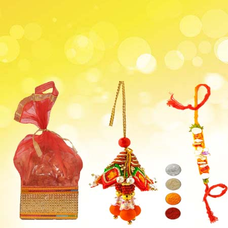 Bhaiya Bhabhi Rakhi with Mixed Dryfruits