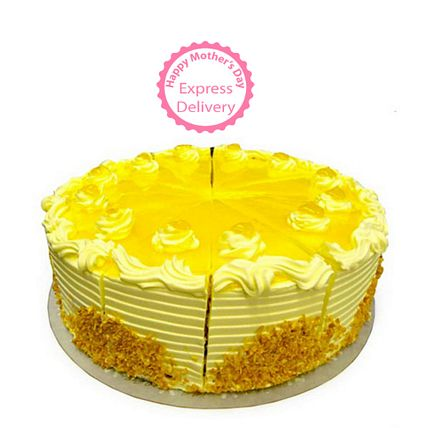 Mothers Day Spl - Exotic Pineapple Cake Half kg Eggless