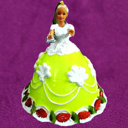 The Lovely Barbie Cake Eggless - 2kg