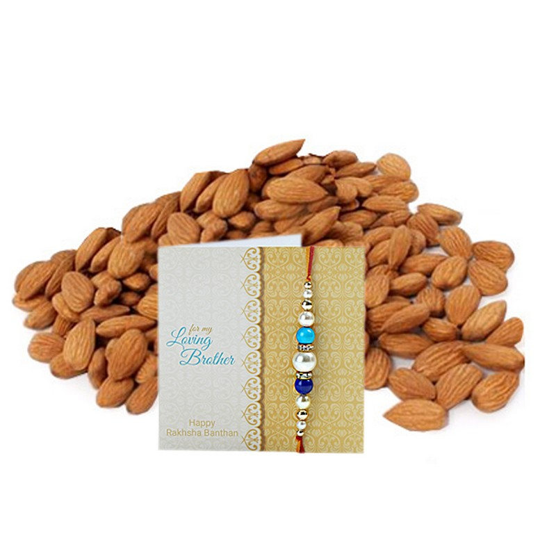 Healthy Almonds Rakhi Combo