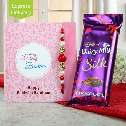 Cadbury Silk With Rakhi