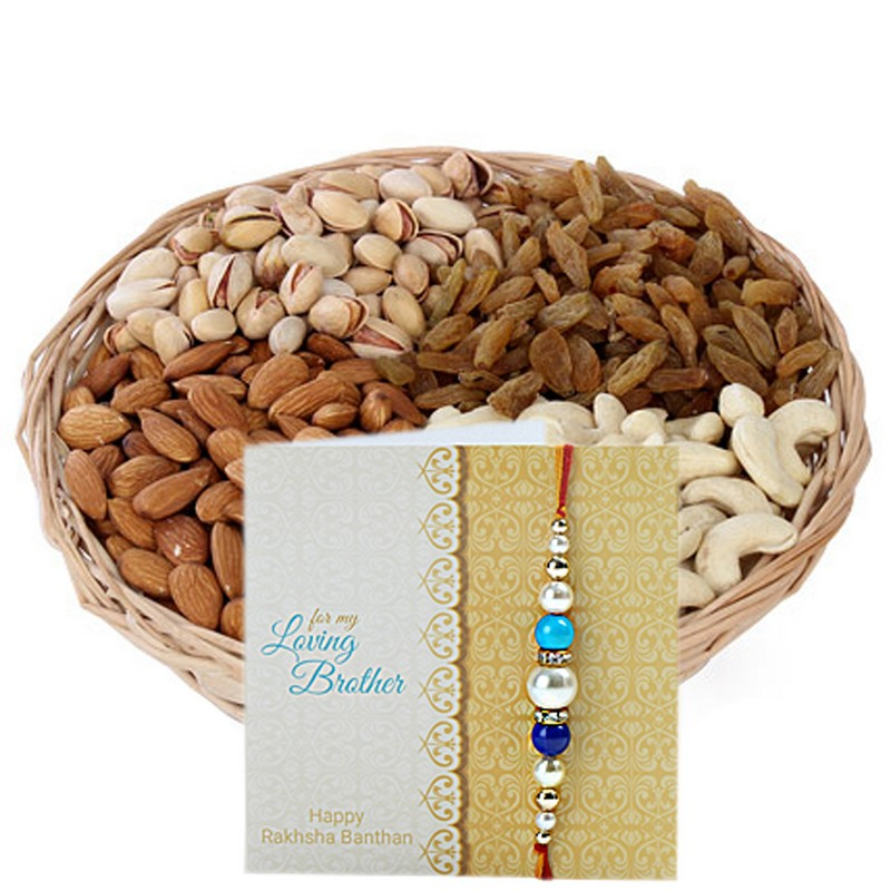 One Kg Dry Fruits Basket For Rakhi