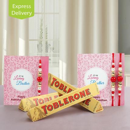 Three Toblerone And Three Rakhi