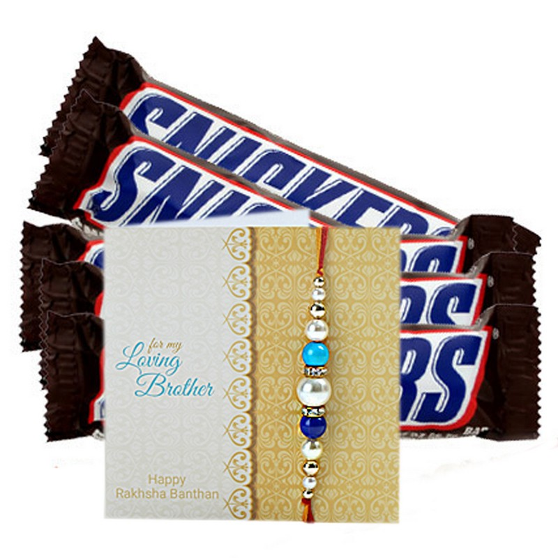 Snickers Chocolates And Rakhi