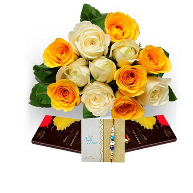 Rakhi Roses With Dark Chocolate