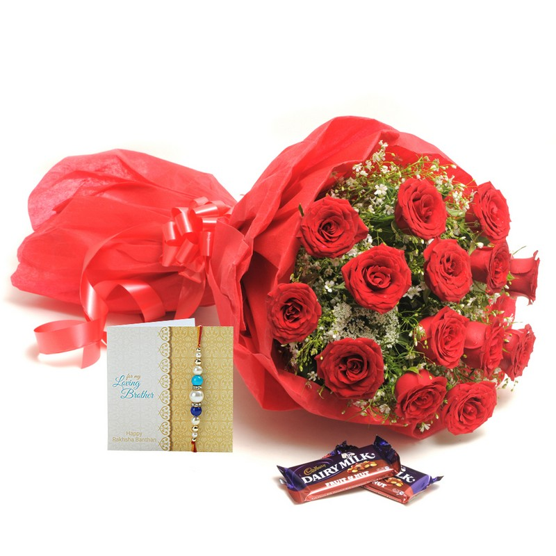 Rakhi Roses N Chocolates