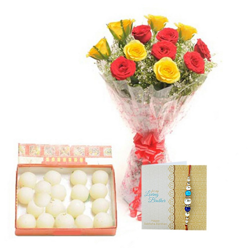Red N Yellow Rakhi Hamper