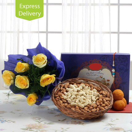Flowerly Rakhi Delight
