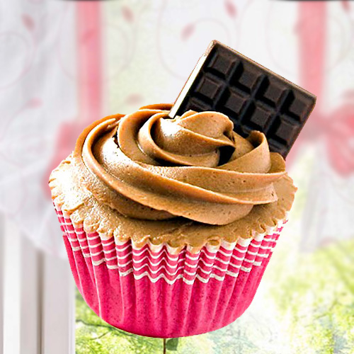 Chocolate Cupcakes With Chocolate Bar