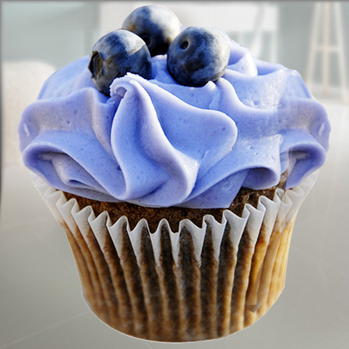 6 Blue Berry Cupcakes