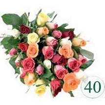 40 Mix color Roses