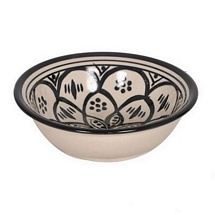 Ceramic White N Black Elegant Bowl