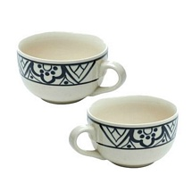Set of 2 Ceramic Stoneware Soup Bowls