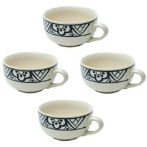Set of 4 Ceramic Stoneware Soup Bowls