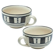 Set of 2 Stoneware Ceramic Soup Bowl