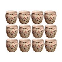 Floral Printed Tea Cups Set of 12