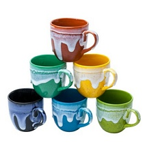 Set of 6 Multicolor Classy Look Ceramic Tea Cups