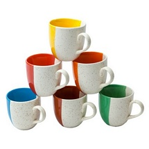 Classic Ceramic Tea Cups Set of 6
