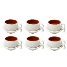 Set of 6 Stylish Tea Cups