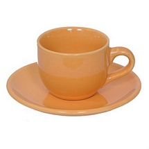 Beige Stoneware Tea Cups n Saucers - Set of 6