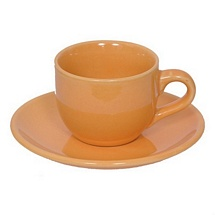 Beige Stoneware Tea Cups n Saucers - Set of 12