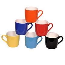 Glossy Colorful Duotone Tea Cups (Set of 6)